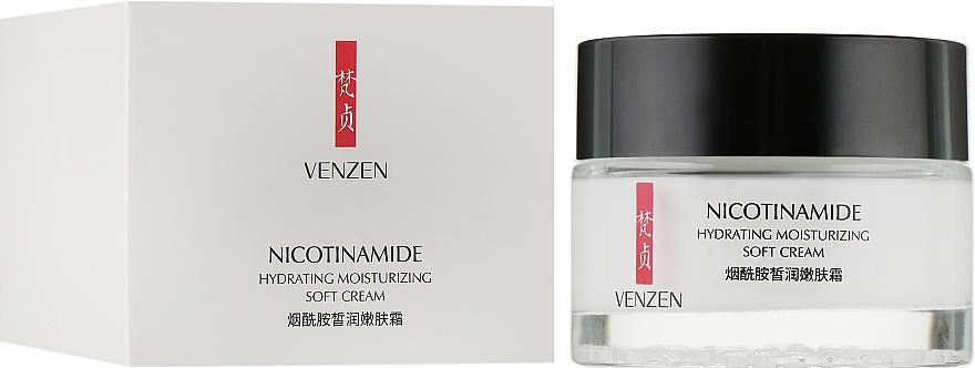 Увлажняющий крем для лица с никотинамидом - Venzen Nicotinamide Moisturizing Cream