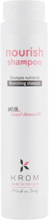Питательный шампунь с экстрактом сладкого миндаля - Krom Nourish Shampoo