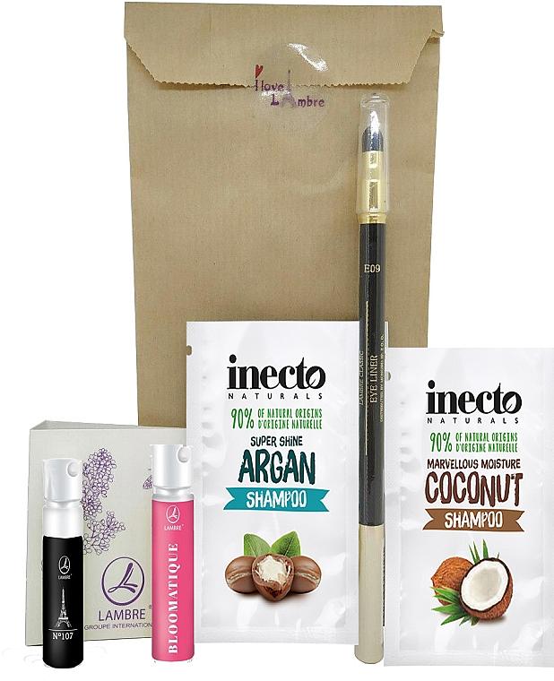 Набор пробников в подарок, при покупке продукции Lambre или Inecto Naturals на сумму от 399 грн