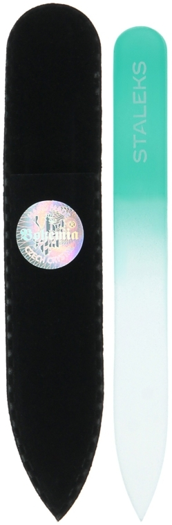 Пилочка хрустальная для ногтей, F4-12-90, бирюзовая - Staleks (9см)