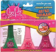 Духи, Парфюмерия, косметика Набор лаков для ногтей 3шт, зеленый, розовый, малиновый - BoPo