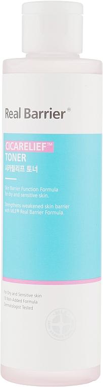 Гипоаллергенный успокаивающий тонер - Real Barrier Cicarelief Toner
