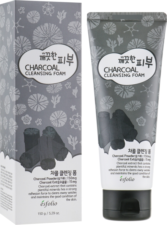 Пенка для умывания - Esfolio Pure Skin Charcoal Cleansing Foam — фото N1