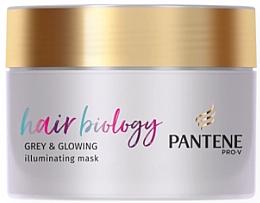 Духи, Парфюмерия, косметика Маска для волос - Pantene Pro-V Hair Biology Grey & Glowing Illuminating Mask