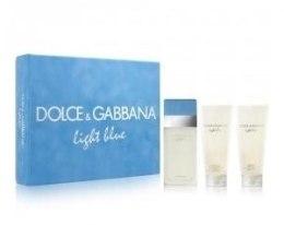 Духи, Парфюмерия, косметика Dolce&Gabbana Light Blue - Набор (edt 100ml + b/l 100ml + s/g 100ml)