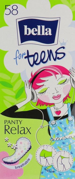 Прокладки ежедневные гигиенические Bella Panty for Teens Relax, 58 шт - Bella