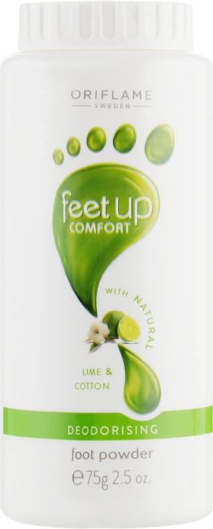 Дезодорирующий тальк для ног - Oriflame Feet Up Comfort