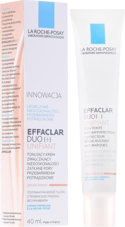 Корректирующий крем-гель для проблемной кожи с тонирующим эффектом - La Roche-Posay Effaclar Duo + Unifiant