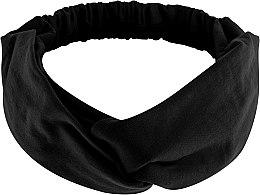 "Духи, Парфюмерия, косметика Повязка на голову, трикотаж переплет, чёрная ""Knit Twist"" - Makeup Hair Accessories"