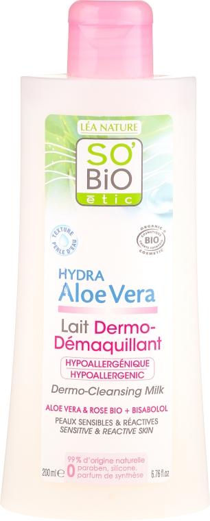 Молочко для лица, для чувсвтительной кожи - So'Bio Etic Aloe Vera Dermo-Cleansing Milk