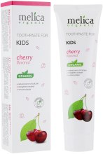 Духи, Парфюмерия, косметика Детская зубная паста со вкусом вишни - Melica Organic