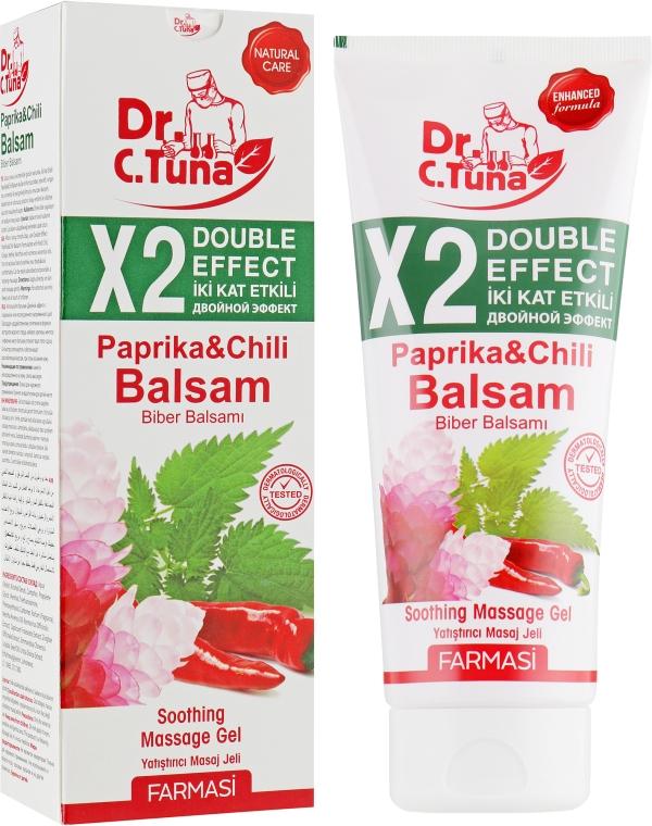 Массажный гель Двойной эффект с перцем чили - Farmasi Dr.Tuna Paprika Balsam