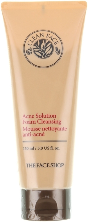 Пенка для умывания - The Face Shop Clean Face Acne Solution Foam Cleanser — фото N1