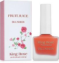 Духи, Парфюмерия, косметика Жидкие румяна-флюид для лица - King Rose Fruit Juice Blusher