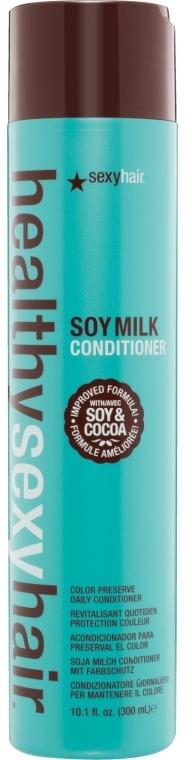 Кондиционер на соевом молоке для нормальных и окрашенных волос - SexyHair HealthySexyHair SoyMilk Conditioner