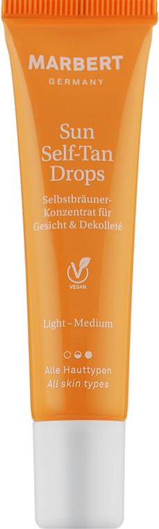 Капли-концентрат для автозагара лица и зоны декольте - Marbert Sun Self-Tan Drops Llight-Medium