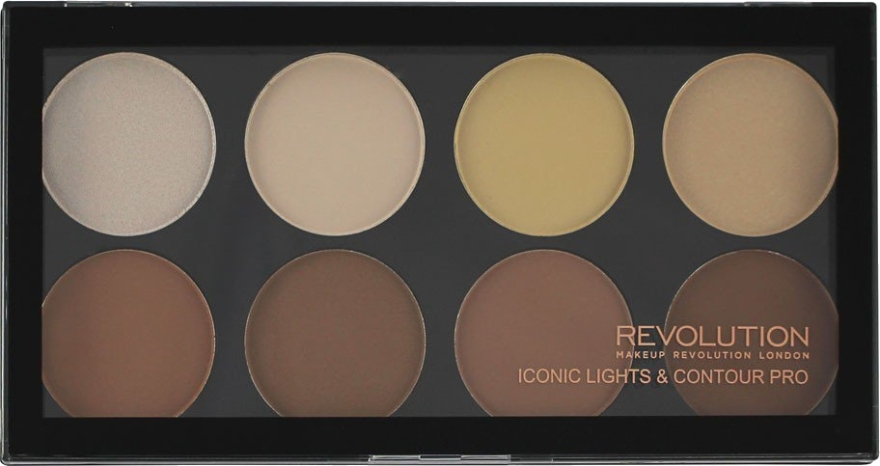 Палетка для контурирования лица - Makeup Revolution Iconic Lights & Contour Pro