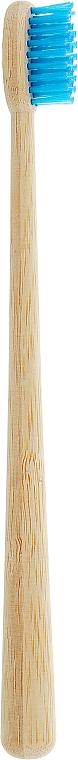 Бамбуковая зубная щетка с конусовидной ручкой, голубая - Panda Bamboo Products