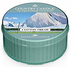 Духи, Парфюмерия, косметика Чайная свеча - Country Candle Cotton Fresh Daylight