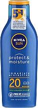 Духи, Парфюмерия, косметика Солнцезащитный увлажняющий лосьон для тела - Nivea Sun Protect & Moisture Sun Lotion SPF20