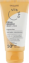 Духи, Парфюмерия, косметика Солнцезащитный крем для чувствительной кожи лица и тела - Oriflame Sun 360 Cream Sensitive Body + Face SPF 50