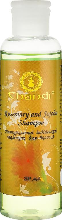 "Натуральный индийский шампунь ""Розмарин и Жожоба"" - Chandi Rosemary and Jojoba Shampoo"