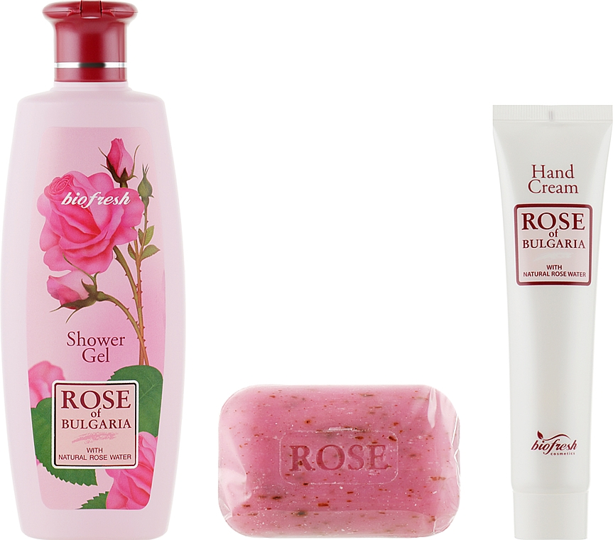Подарочный набор №1 - BioFresh Rose of Bulgaria (sh/gel/330ml + soap/100g + h/cr/75ml)