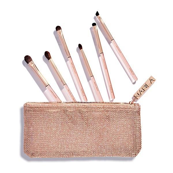 Набор кисточек для макияжа в косметичке - Nabla Denude Eye Brush Set