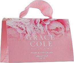 Духи, Парфюмерия, косметика Набор - Grace Cole Gentle Soap Peony & Pink Orchid (b/soap/2х75g)