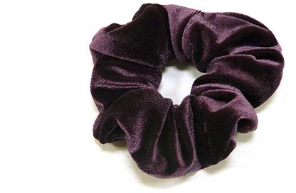 Резинка для волос велюровая P1600-6, 11 см d-5,5 см, фиолетовая - Akcent
