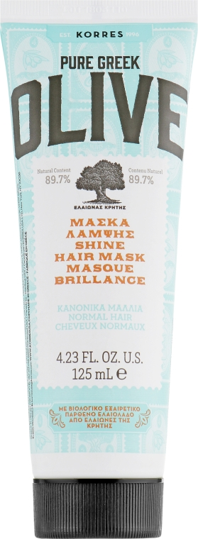 Маска для сияния нормальных волос - Korres Pure Greek Olive Shine Hair Mask