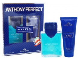 Духи, Парфюмерия, косметика Lotus Valley Anthony Perfect Pure Instruction Pour Homme - Набор (edt/100ml + sh/g/100ml)