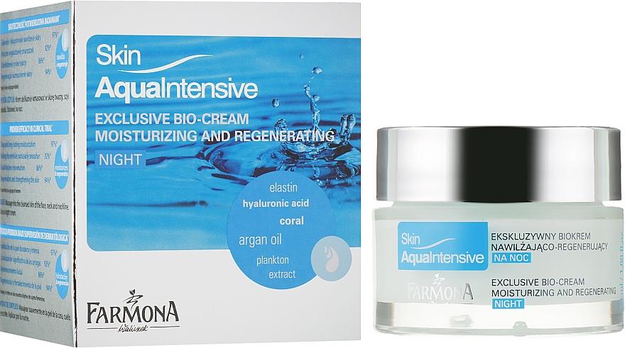 Крем для лица ночной увлажняющий - Farmona Skin Aqua Intensive Face Cream