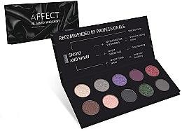 Духи, Парфюмерия, косметика Палетка прессованных теней для век - Affect Cosmetics Smoky And Shiny Eyeshadow Palette