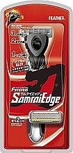 """Духи, Парфюмерия, косметика Бритвенный станок с тройным лезвием""""Samurai Edge"""" с 2 запасными кассетами - Feather"""