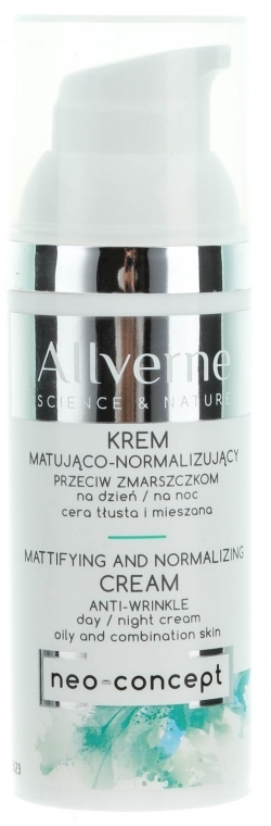 Крем для лица - Allverne Science And Nature Mattifying And Normalizing Cream