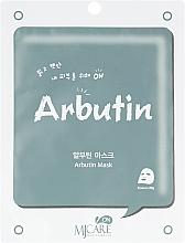 Духи, Парфюмерия, косметика Тканевая маска с арбутином - MJ Care On Arbutin Mask Pack