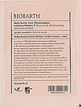 Духи, Парфюмерия, косметика Маска для лица, антиоксидантная - Bioearth Brightening & Antioxidant-Rich Face Mask