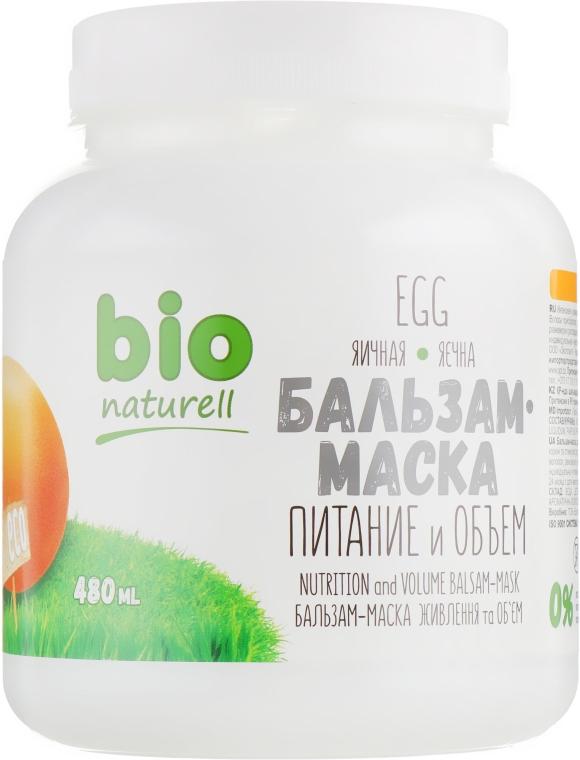 """Бальзам-маска """"Питание и объем. Яичная"""" - Bio Naturell"""