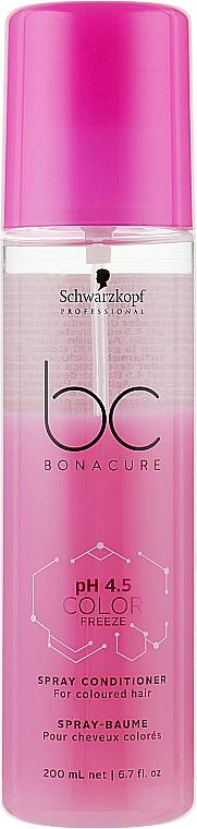 Спрей-кондиционер для окрашенных волос - Schwarzkopf Professional BC Bonacure pH 4,5 Color Freeze Spray Conditioner