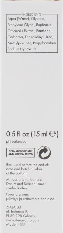 Гель з екстрактом очанки під очі - Denova Pro Eye Gel With Eyebright Extract — фото N2