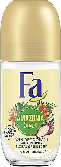 """Дезодорант роликовый """"Ритмы Бразилии. Amazonia Spirit"""", аромат цветочной зелени - Fa"""