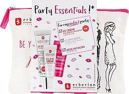 Духи, Парфюмерия, косметика Набор - Erborian Party Essentials (cr/15ml + cr/5ml + lip/oil/8ml + bag)