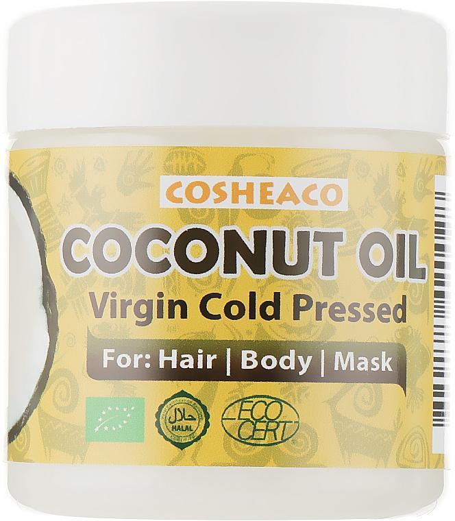 Кокосовое масло для волос холодного отжима, нерафинированное - Cosheaco Oils & Butter