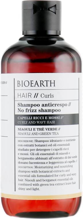 Шампунь для вьющихся волос - Bioearth Anti-Frizz Shampoo