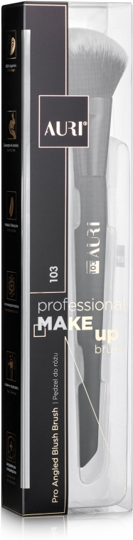 Кисть для румян 103 - Auri Professional Angled Blush Brush 103
