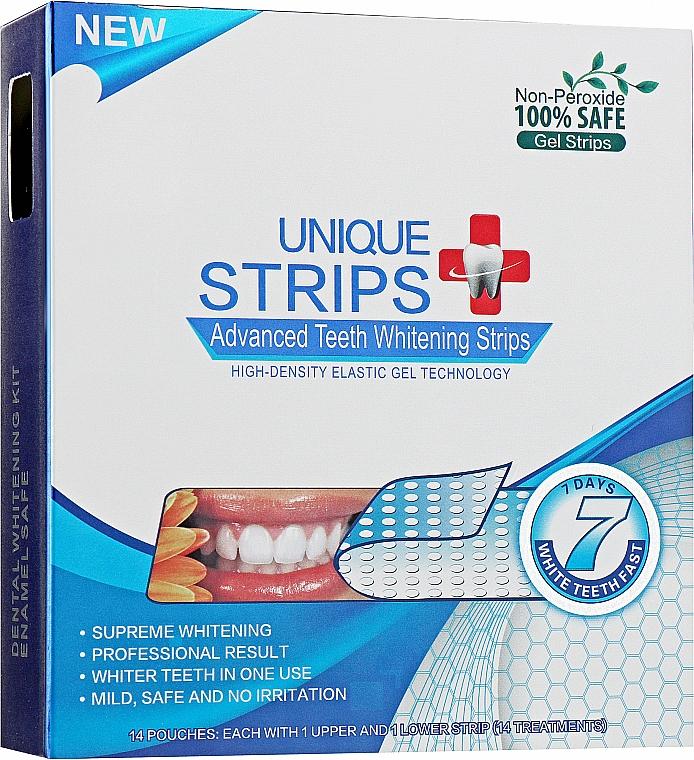 Полоски для домашнего отбеливания зубов - Unique Strips White Blue Light