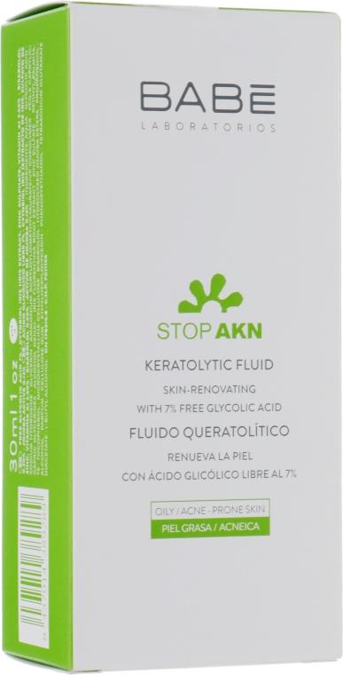 Кератолитический флюид с гликолиевой кислотой для проблемной кожи - Babe Laboratorios Stop Akn — фото N2