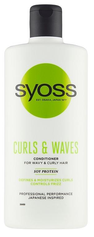 Кондиционер для кудрявых и волнистых волос - Syoss Curls & Waves Conditioner With Soi Protein