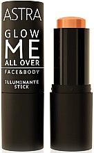 Духи, Парфюмерия, косметика Кремовый хайлайтер для лица и тела - Astra Make-Up Glow Me All Over Face & Body